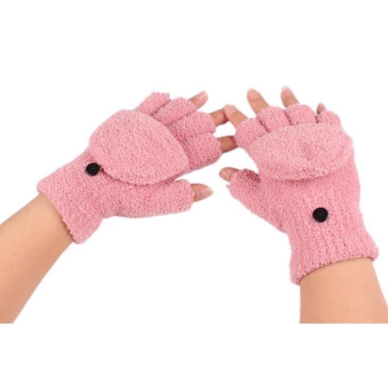 Mano de invierno al por mayor- guantes sin dedos Nueva muñeca encantadora guantes cálidos 1pair 6 colores