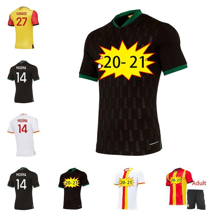 Nuevo 2021 RC Lens Home Away Soccer Jerseys Gradit Fortes Cahuzac Pérez 2020 RC Lens Maillot De Foot Camisa De Futebol Camisetas De Fútbol De Los Hombres