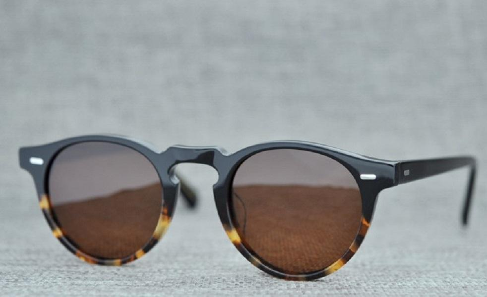 Luxury-Gregory Peck Brand Men Women Sunglasses Oliver Vintage Polarized Peoples OV5186 Retro Sun Glasses OV 5186 With Full Package Tdnxi