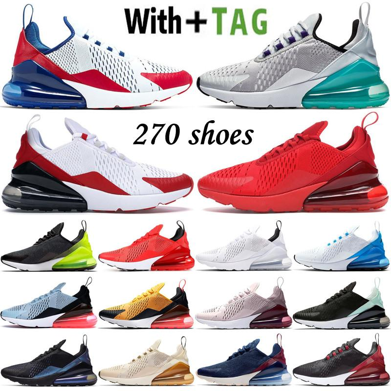 2021 En Kaliteli Yastık 270 OG Ultra Erkek Kadın Koşu Ayakkabıları Platin Jade ABD Bred CNY Gökkuşağı 27c Sneakers Spor Eğitmenleri Boyutu 36-45