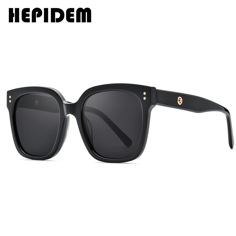 Hepidem vintage gentil óculos de sol homens 2020 lente plana grandes grandes óculos de sol quadrados para mulheres design de marca óculos gm kuku j1211