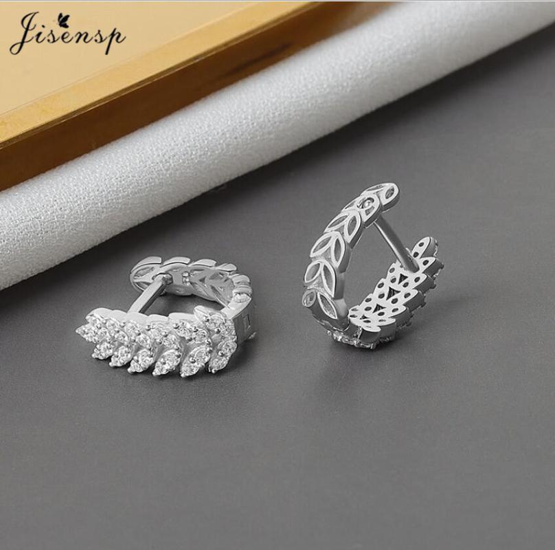 BooMian Crystal Feuilles Boucles d'oreilles pour femmes Filles Vintage Strass Boucles d'oreilles en forme de U Déclaration Bijoux Nouvel An Cadeau Nouvel An