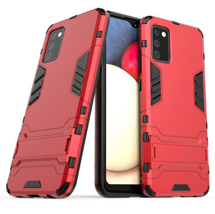 Per Samsung Galaxy A02S Case Classic Reminiscent Loop Combo Hybrid Armour Bracket Fact Holster Cover per Samsung Galaxy A02S