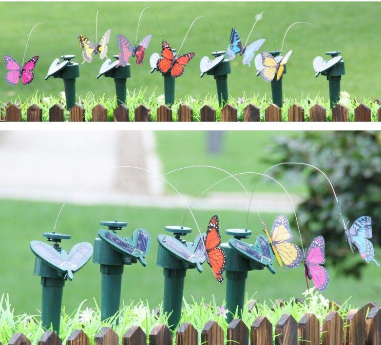 Солнечные силовые танцы летающие бабочки развевающиеся садовые украшения вибрации мухому колибри флайин г птиц смешные игрушки