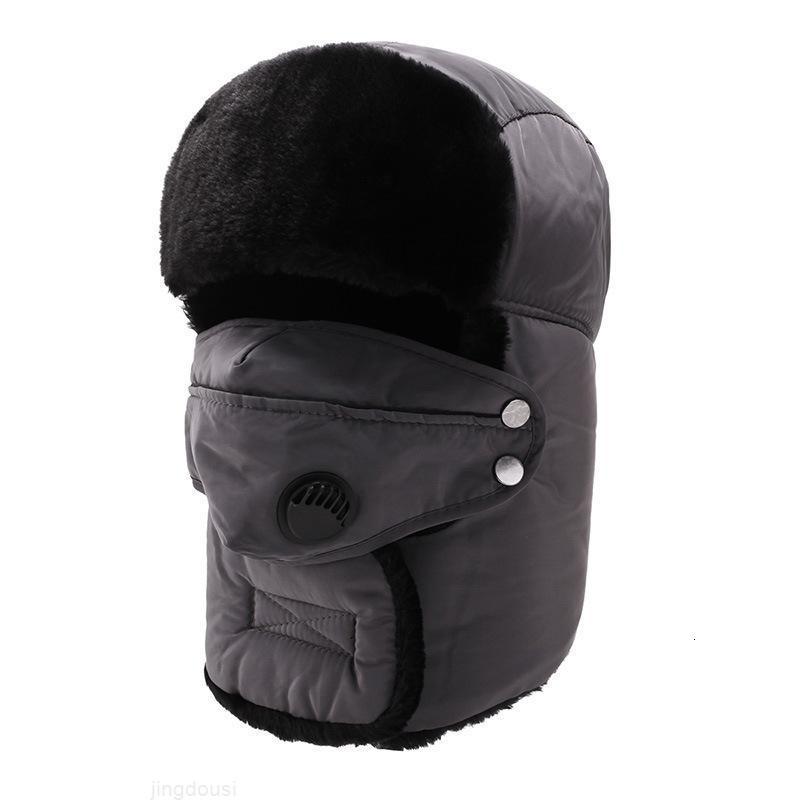 Berretto di inverno più calda degli uomini spessi per le donne Balaclava Mask Cappello Berretto Cappello antivento Ski Ski Outdoor Winter Ear Cap W1