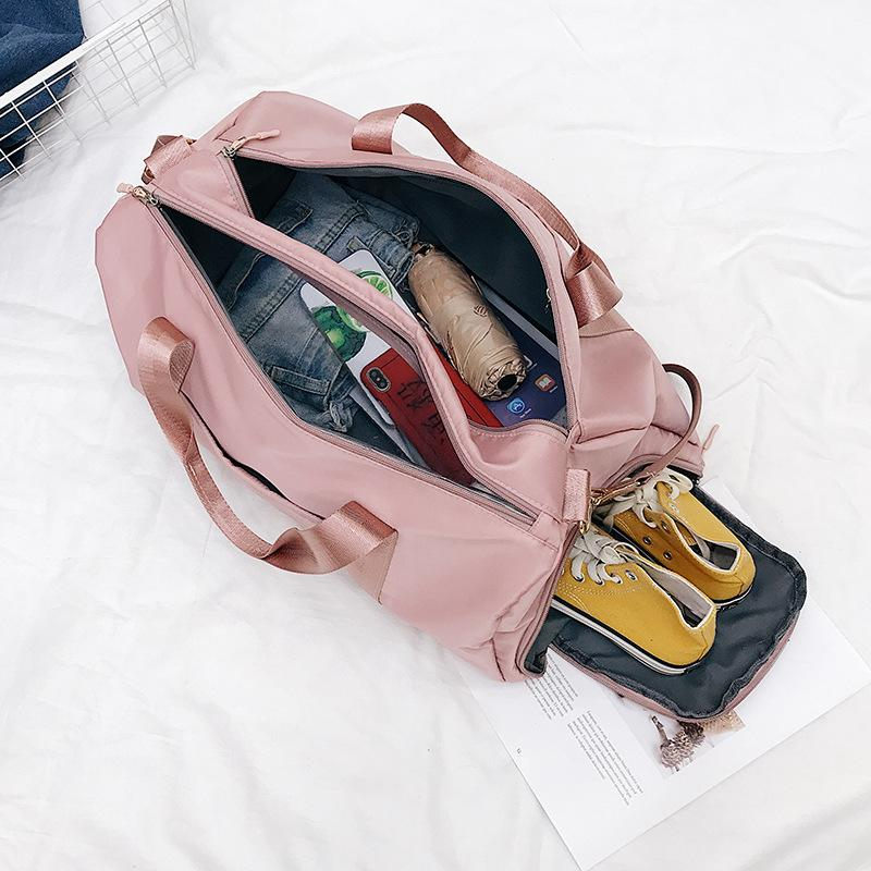 Storage Training Adjustable Strap Dry Wet Separated Waterproof Women Outdoor Fitness Travel Handbag Nylon Sports Yoga Gym Bag Q1206