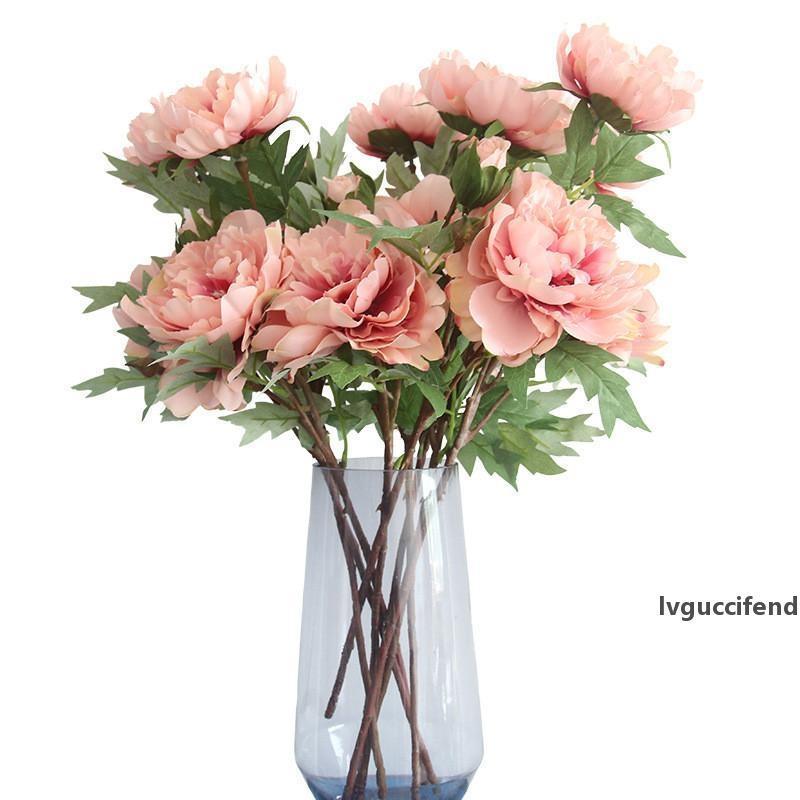 Fiore artificiale Ortensia peonia bouquet da sposa fiore di seta per matrimonio San Valentino S. Party Home Decorazione fai da te