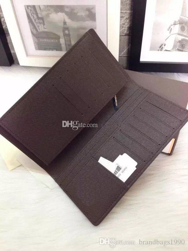 Kostenloser Versand! Mode Clutch Echtes Leder Brieftasche mit Kasten Staub Tasche Frauen Männer Geldbörse Reale Bilder Billig Großhandel 62665