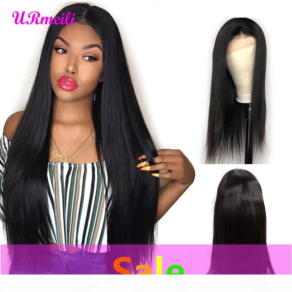 Lace Frontal Human Hair Wigs For Black Women Brazilian Straight Remy Hair Wig alibaba Lace Frontal Wig With baby hair pre plucked