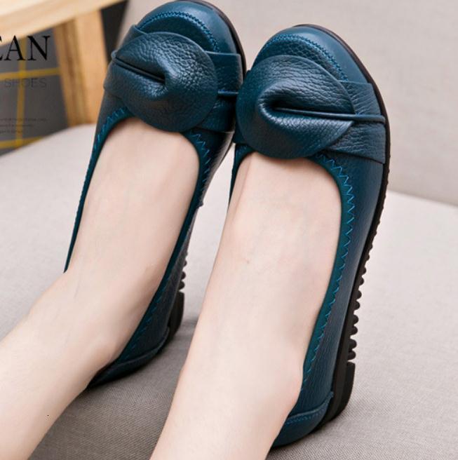 2021 mujeres en primavera y otoño nuevo estilo plano cabeza redondo bowknot anti-patín de zapatos suaves @ qq715 jr0z
