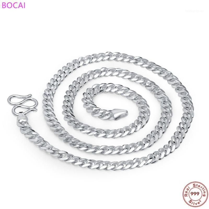 Collar de plata esterlina de los hombres de Bocai 999 Collar de plata esterlina de la cadena de moda S990 Cadena de látigos J1