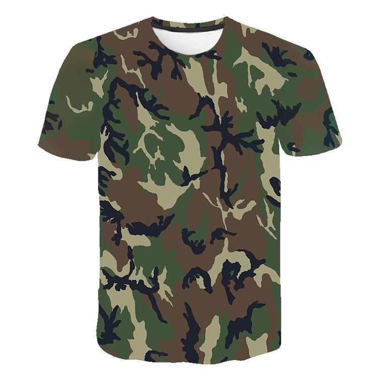 Rotgrau grüner Tarnkleidung 3D-gedrucktes T-Shirt Männer und Frauen Kurzarm T-Shirt Mode Atmungsaktive T-Shirt Größe S-6XL KG-140