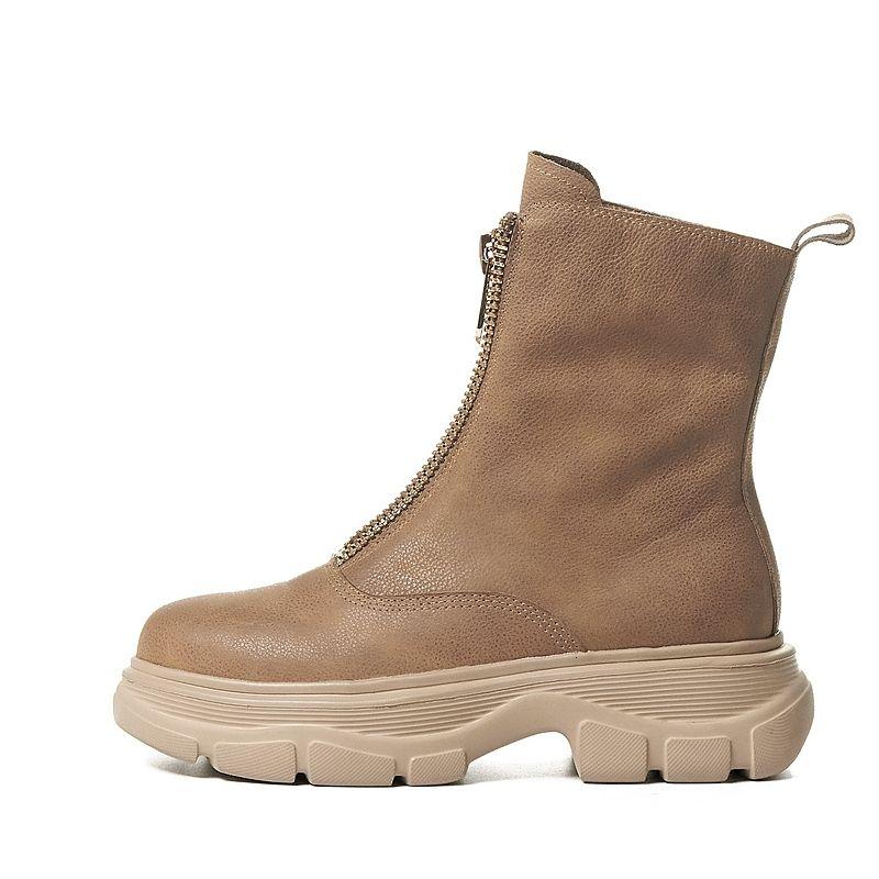 2021 Femmes Chaussures d'automne et d'hiver Dames Bottes avant Vintage Short Snowboots Hot 9btk