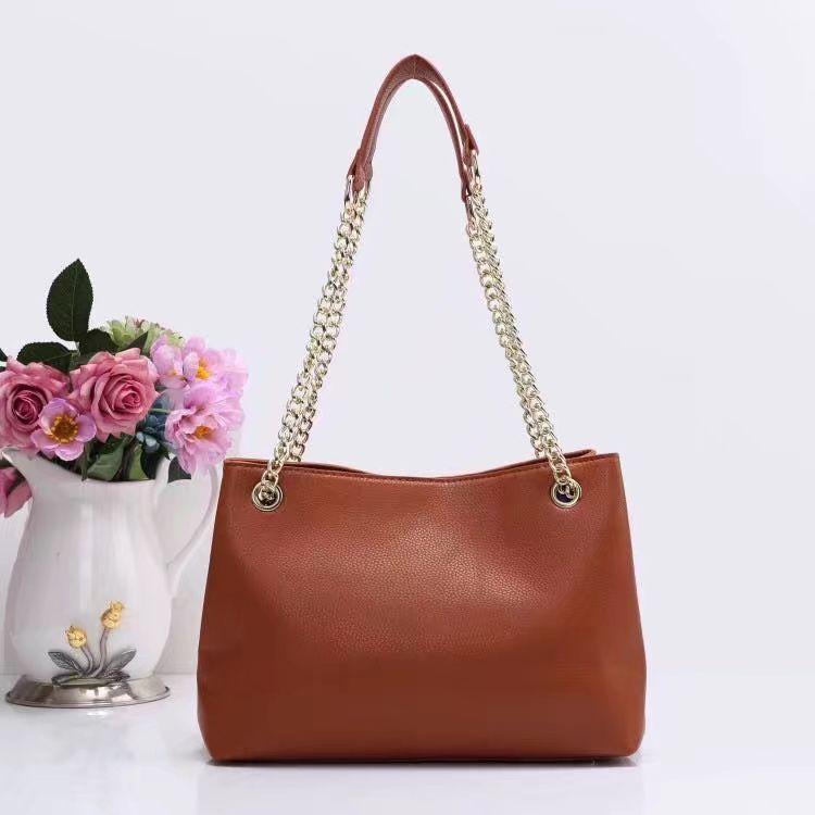 Hot Sale Toppkvalitet Mode Kvinnor Väskor Rosa Handväskor Plånböcker Läder Kedjeväska Crossbody Shoulder Bags Messenger Tote Bag Purse 4Color