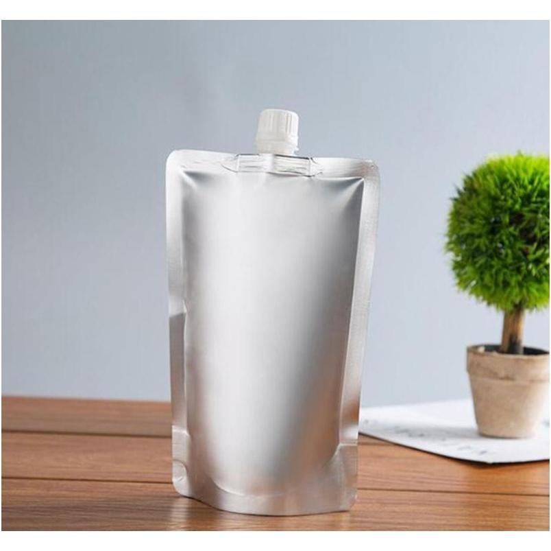 Doypack 150ml 250ml 350ml 500ml Aluminum Foil Stand Up Spout Liquid Bag Pack Beverage,squeeze,drin jllBRU soif