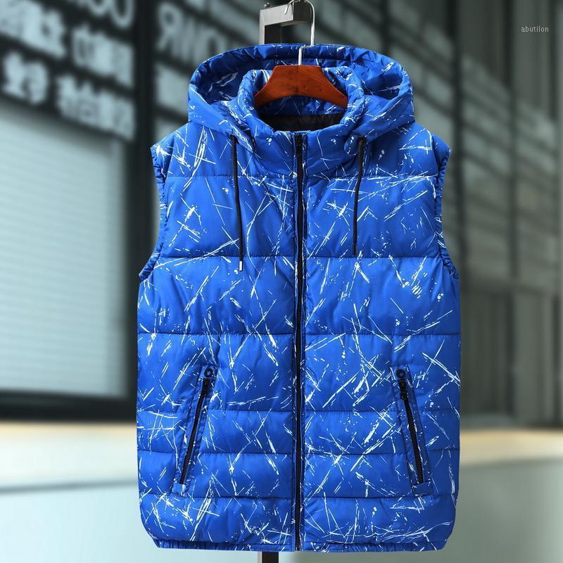 Talla grande 8xl 7xl 6xl 5xl parka chaleco con capucha invierno otoño nuevo grueso cálido casual rompevientos holgado chaleco chaqueta sin mangas1
