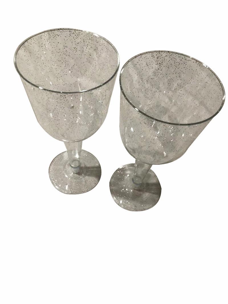 20PCS Factory direct sale high quality plastic cups simple transparent plastic wine glasses indestructible champagne glasses