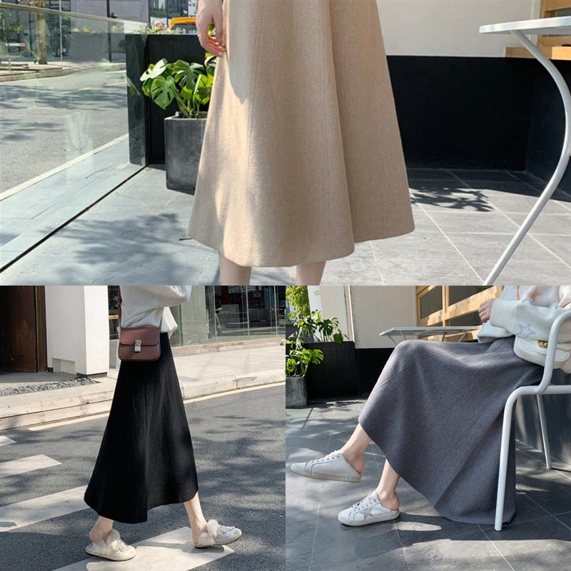 L1dSk Summer High Designer Skirt Crotch Cover Casual Clothing Womens Candy Slimming Color Fashionable Skirt Sexy Pleated Solid Color skirt