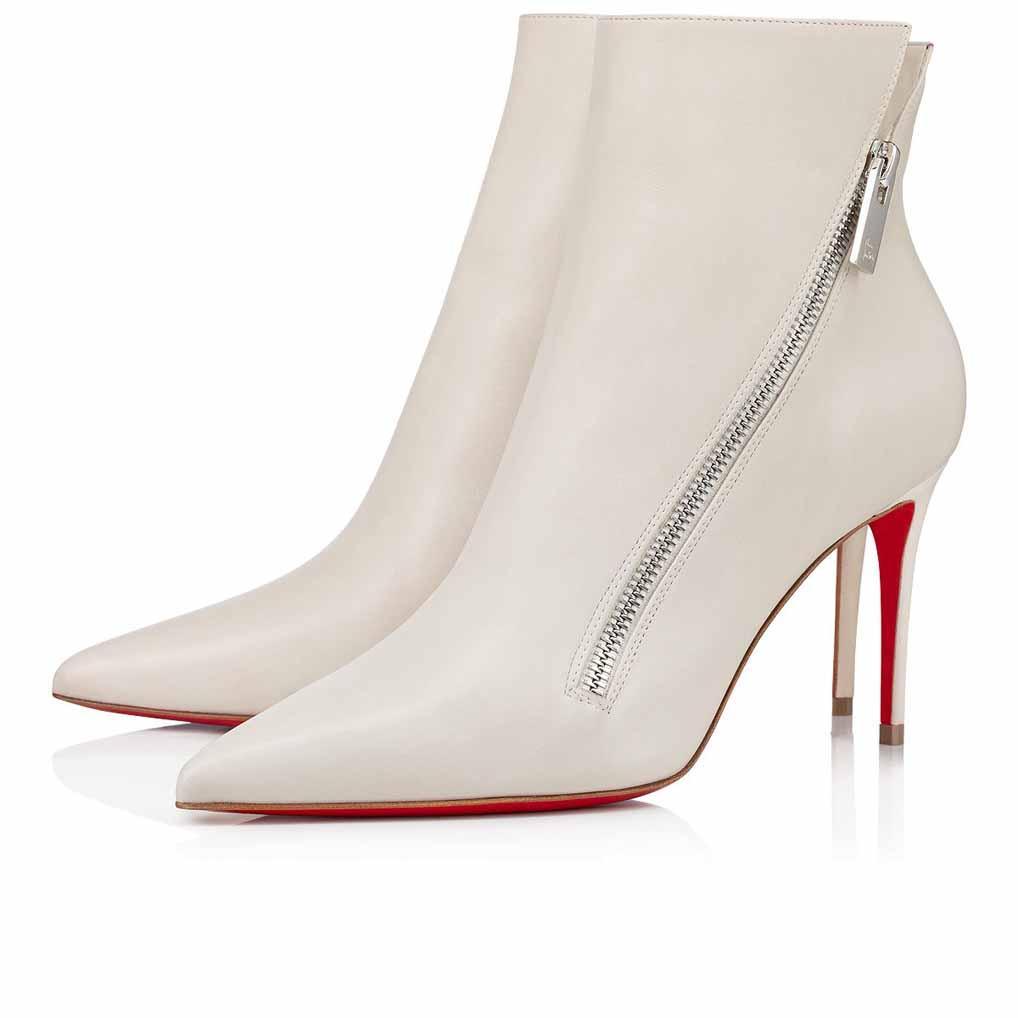 "2020S inverno mulher baixa botas vermelhas botas curtas de fundo, estilo ""Birgikate"" preto bege bege couro genuíno salto fino sexy pointed toe zipper botas"