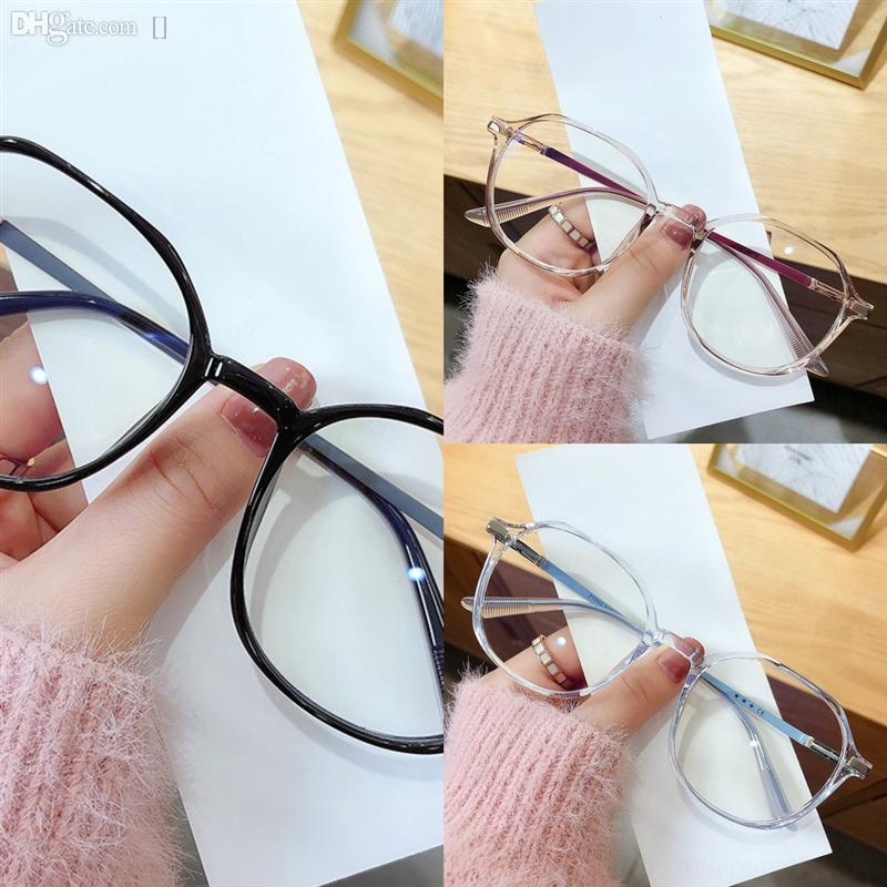 CVT9i Anti-Blueless Lectura Sin borde Anti-Blublue Lupa Gafas Retro Gafas Prescripción Mujeres Redondas Sin Marco Arte Bloque Lentes