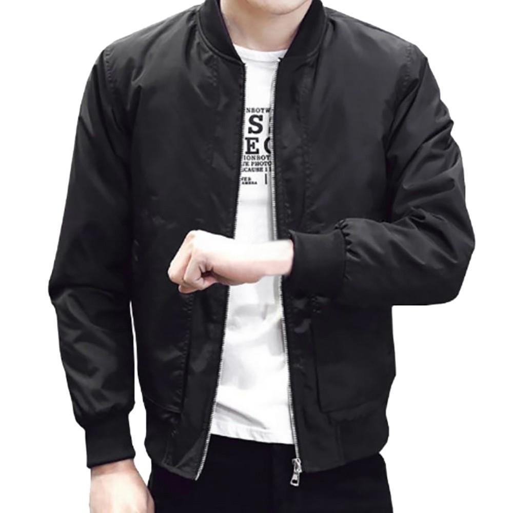 Frühling New Herren Bomber Reißverschluss Jacke männlich Casual Streetwear Hip Hop Slim Fit Pilot Mantel Männer Kleidung Plus Größe FB