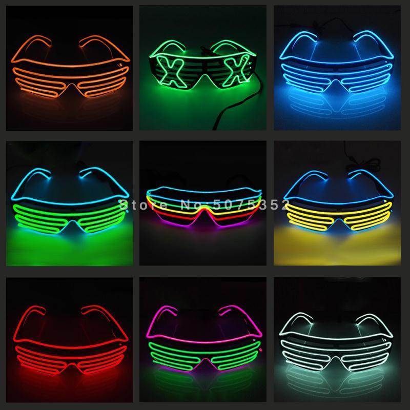 Карнавальный светящийся яркий для очков оформление солнцезащитные очки танцы рождества El Sun Greeness Neon Party Hotter LED Eyewear DJ фестиваль NLNBC