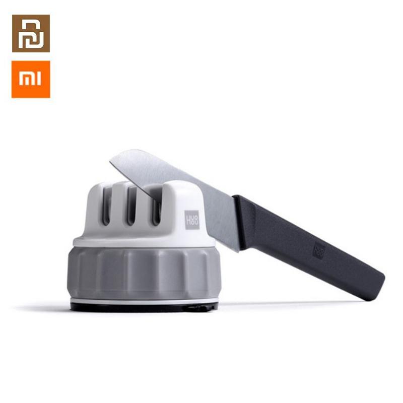 Xiaomi Youpin HuoHou Mini per affilare i coltelli ABS a una mano affilatura Super aspirazione della cucina Temperino Strumento 61 * 73 millimetri