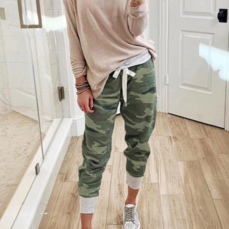 Женские весенние повседневные камуфляжные брюки осень моды камуфляжные грузы Jogger брюки женские 2020 уличные кружева навесные