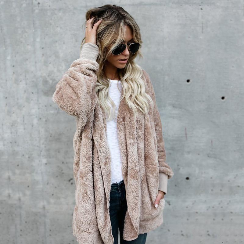 Womens Fur Cardigans Sweaters Long Hooded Cardigan 2020 Winter Autumn Coat Off Shoulder Sweater Women Plus Size 3XL Jump