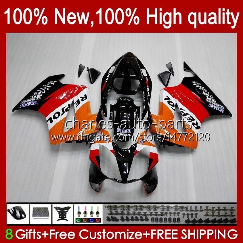 Honda VFR800 VFR 800 RR VFR800RRインターセプターRepsol Orange 100HC.4 02 04 05 08 08 09 10 11 2002 2012フェアリングキット