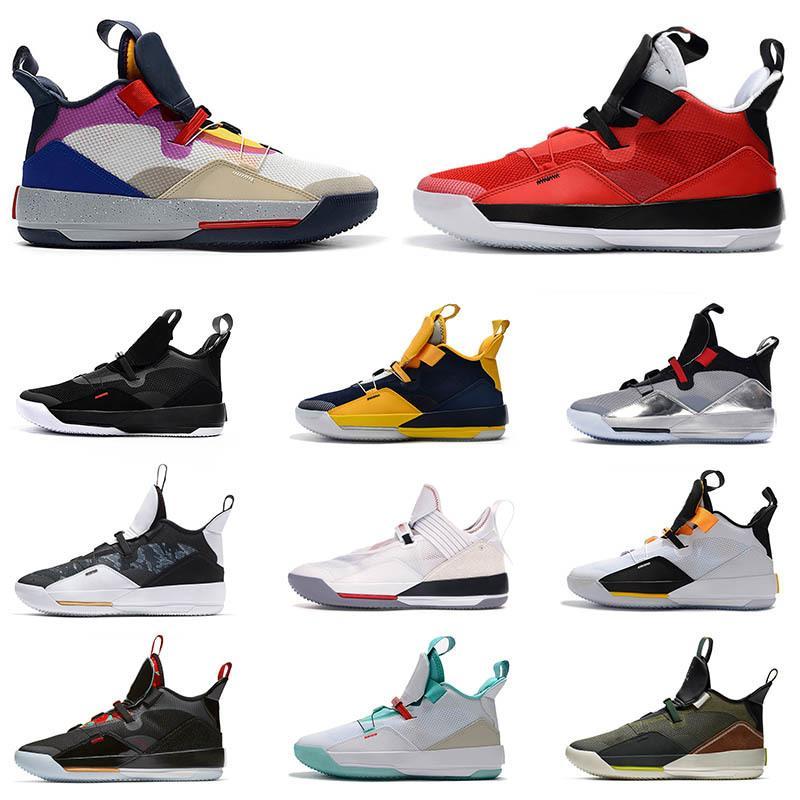 Hotsale Görünür Yardımcı Programı Siyah Kırmızı Jumpman 33 Erkek Basketbol Ayakkabıları 33 S Camo Tech Pack Guo Ailun Pe Bej Erkekler Eğitmen Krem Spor Ayakkabı