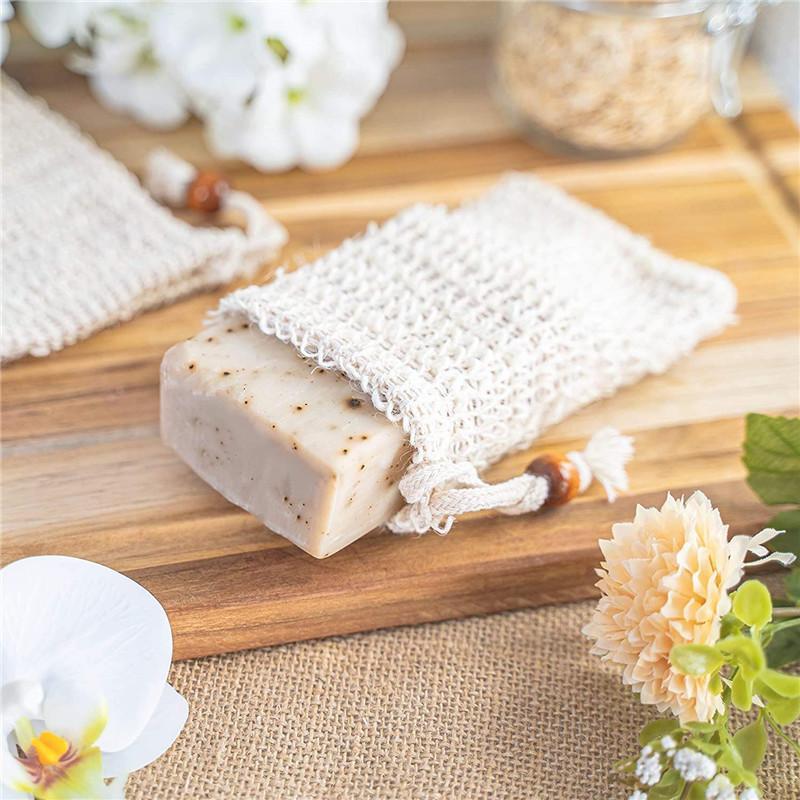 الصابون حقيبة صنع فقاعات التوقف كيس الحقيبة تخزين الرباط أكياس الجلد سطح القطن الكتان تنظيف الرباط حامل حمام إكمال 16 J2