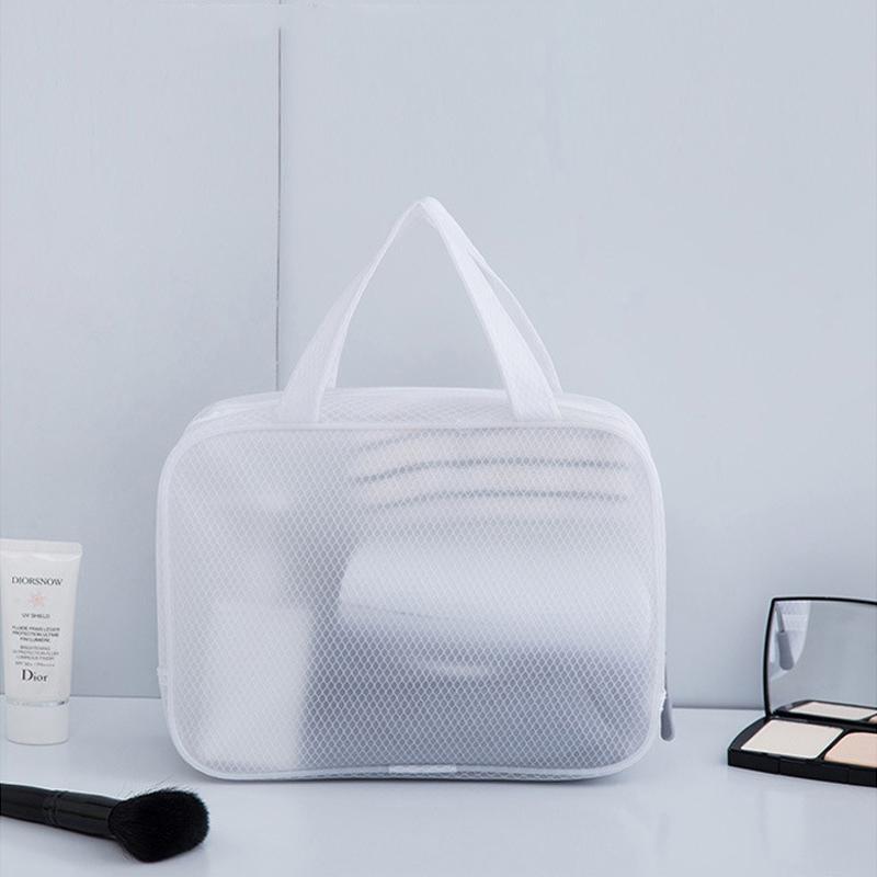Reisen PVC Kosmetiktaschen Frauen Transparent Klarer Reißverschluss Make-up-Taschen Organizer Badewäsche Make-up Waschbeutel