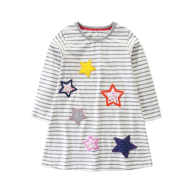 Vestidos de niña Moda para niñas vestido de otoño primavera a rayas algodón vendiendo manga larga vestido niños ropa princesa niños niña
