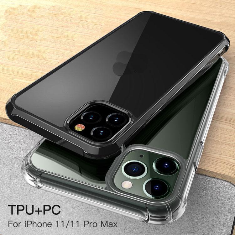Para cao para iPhone 7 8PLUS XR X 11 12 Pro Limpar Armadura Híbrida Caso Acrílico Prova de Choque Capa Transparente Anti-Drop Capas com pacote de varejo