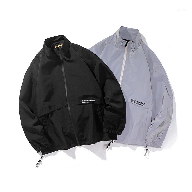 Hombres Streetwear Hip Hop Spring Autumn Reflective Jacket Mascule Mujer Moda Deportes Pareja Abrigo Outerwear1