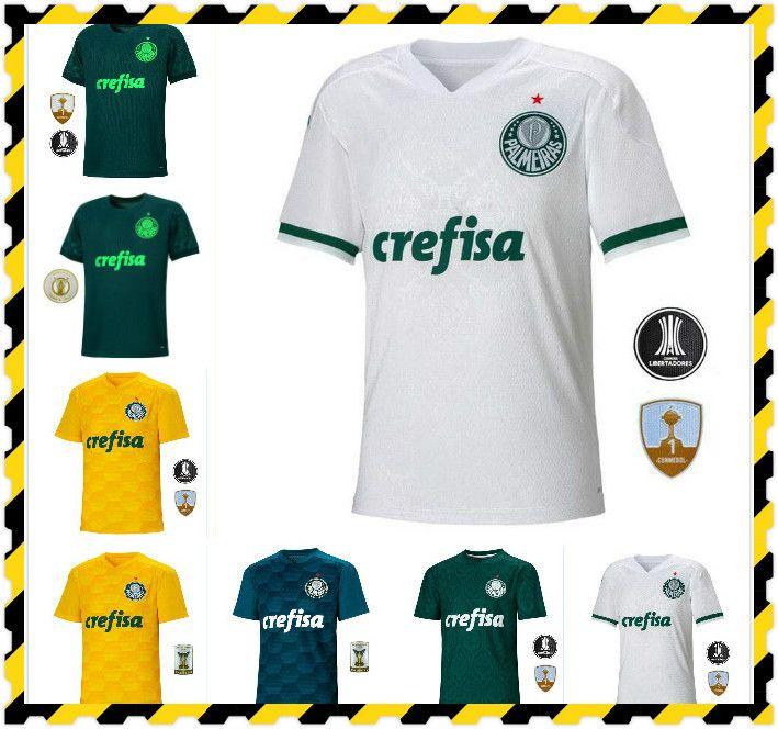 Lima 20 21 Palmairas Dudu Borja Jerseys de fútbol Moises A.guerra Lucas Felipe Melo Home Green Foot Football Shirts Mens Uniformes