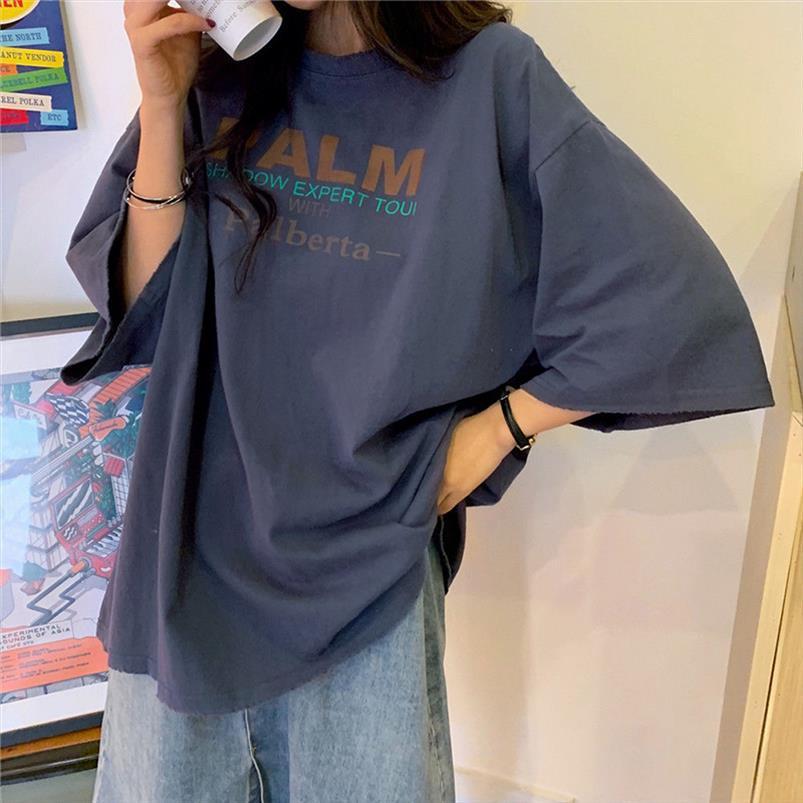 Donne Estate Casual T Shirt New 2020 Moda stile coreano Streetwear Harajuku T Shirt Femminile Top in cotone allentato Tees P346