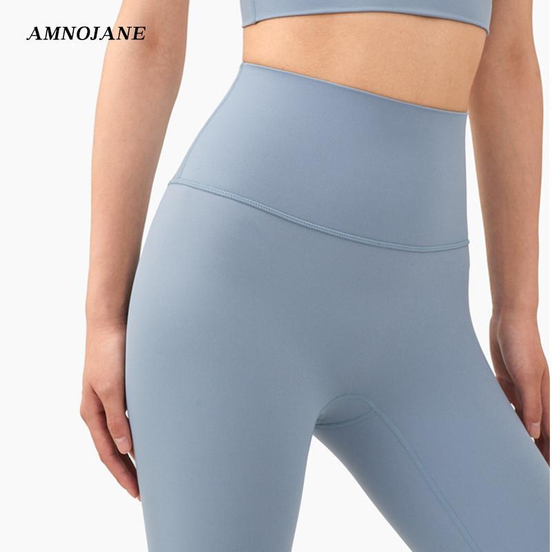 Frauen Fitnessstudio Strumpfhosen Leggings mit Taschen Workout Braune Yoga Hosen Hohe Taille Jogger Fitness Kleidung Legging Sport Sportlinge X1227