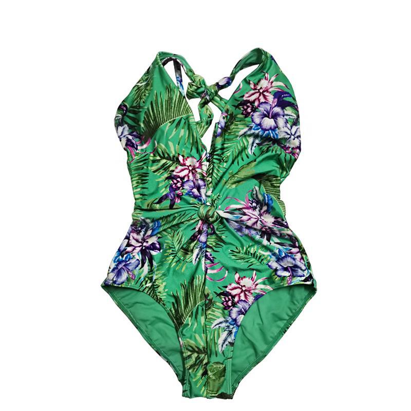 Women's one-piece swimsuit high fork swimsuit adjustable shoulder straps swimsuit sexy bikini split type
