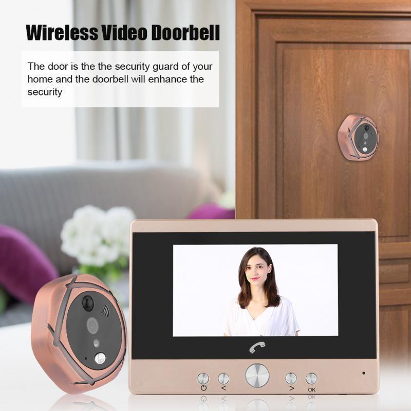 4,3 pouces numérique Vedio Sonnette écran couleur judas Viewer Night Vision Sonnette électronique Caméra de sécurité Accueil États-Unis EU UK AU