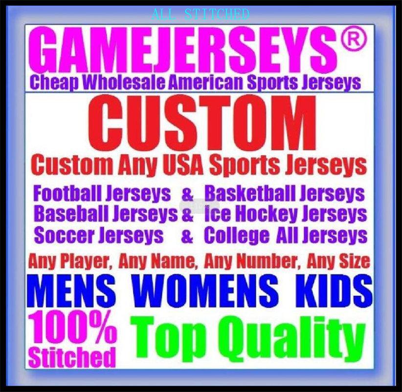 Benutzerdefinierte American Football Trikots für Herren Womens Jugend Kinder Baseball Eishockey Basketball Farbsport Neue Fussball Jersey Navy 4XL 5XL 6XL