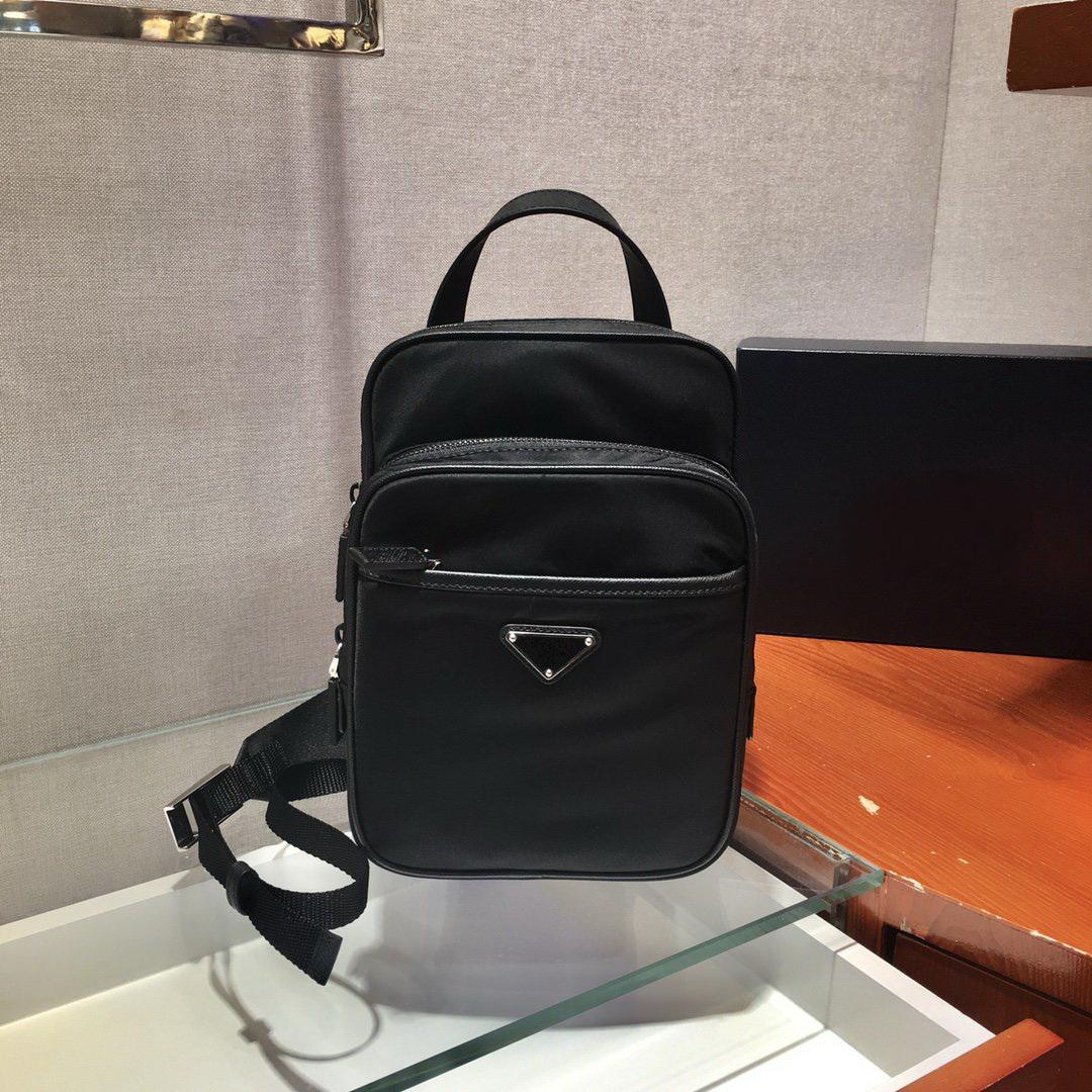Free shipping Top quality fashion men women nylon Saffiano pocket waist bag chest purse shoulder bag