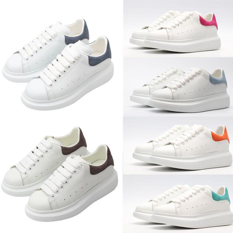 مع مربع أعلى جودة الأحذية مصمم الرجال النساء إمرأة جلد الدانتيل يصل الأبيض رجل espadrilles المتضخم الشقق منصة عارضة espadrille حذاء شقة #FVBN