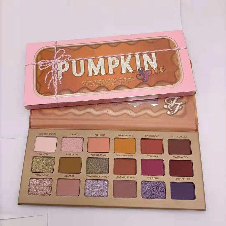 Hot Pumpkin Pumpkin 18 Colori Eyeshadow Shimmer Matte Natale 18Color Eyeshadow Palette DHL spedizione gratuita