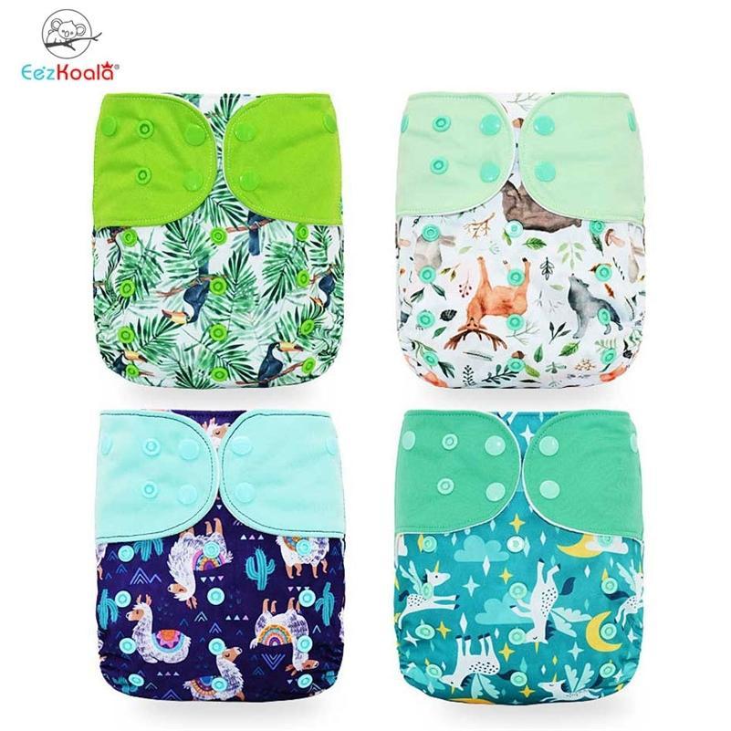 Eezkoala-Taschen-Taschen-Baby-Tuch-Windel umweltfreundliche schnelle trockenwaschbare Windelabdeckung wiederverwendbare Babytasche Windelfreeshipping lj201026