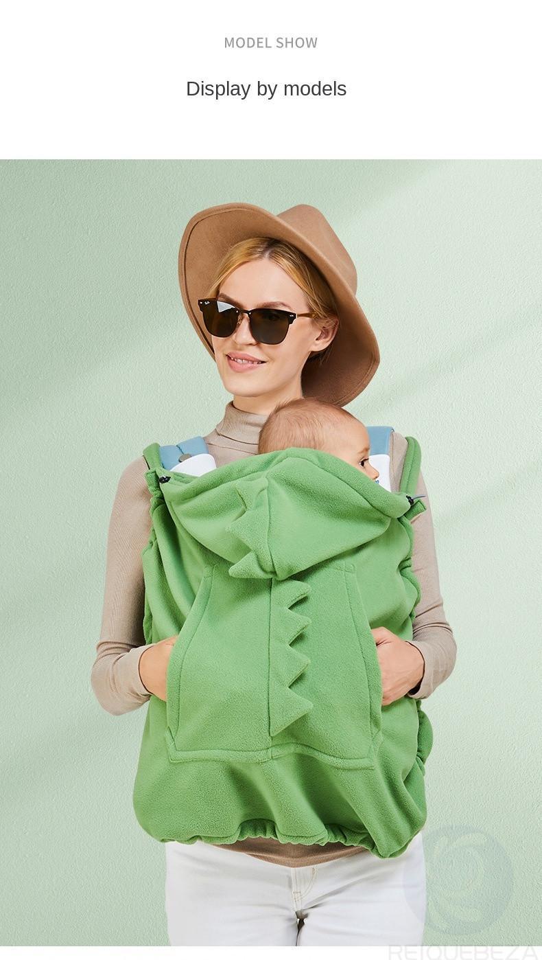 Copertura del baby Carrier Cover con cappuccio Stretchy Mantello multifunzionale del fumetto del fumetto del mantello antivento addensare neonato addensamento caldo Cover del passeggino caldo
