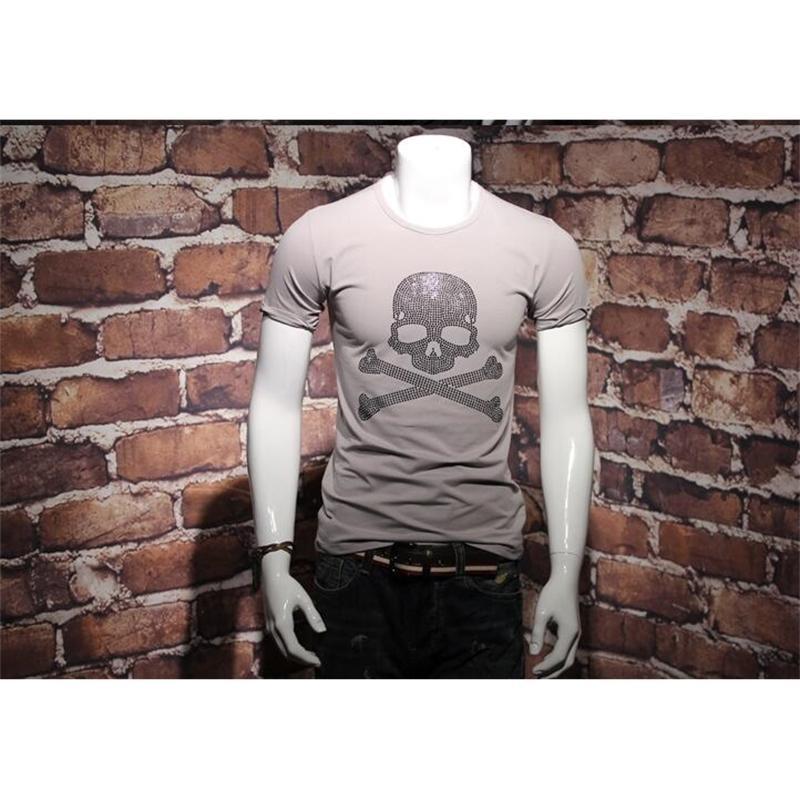 Nuevo diseño de hombres camisetas hombre algodón cuello top tees sw0014 59h4