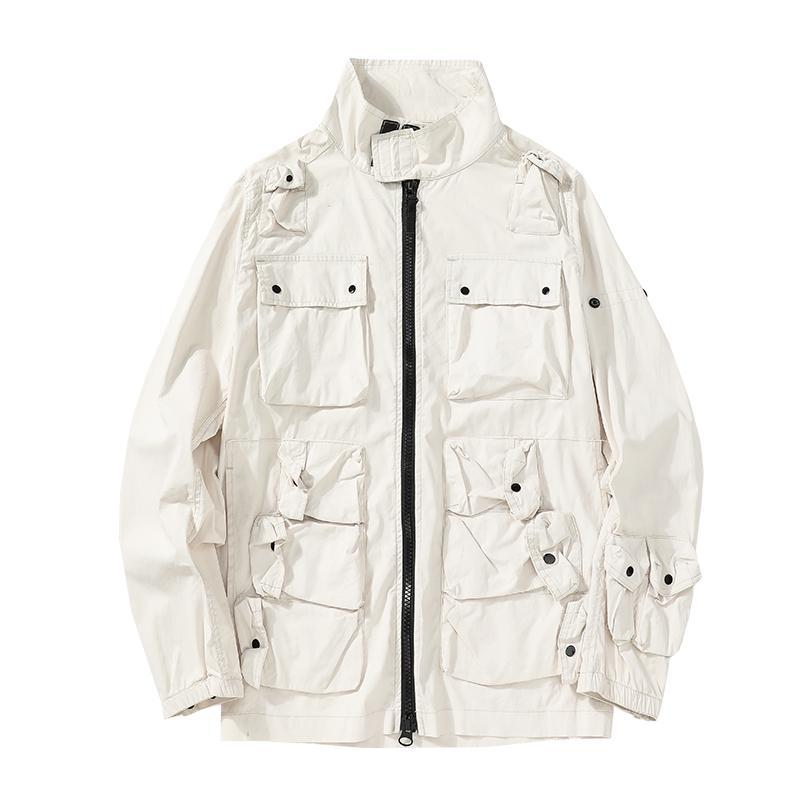 Mens vestes 2021ss Vêtements de périphérie Solid Hommes Mode Veste confortable Casual Street Manteaux Poches Tops Tissu Turquie original