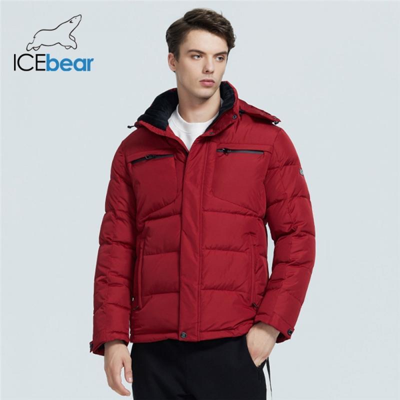 IceBear Winter New Casual y de moda Chaqueta acolchada de algodón cálida y a prueba de viento Ropa de marca MWD20940D 201124